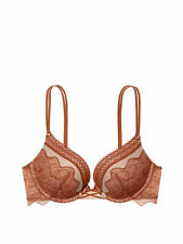 VICTORIA'S SECRET VERY SEXY PUSH UP/PIGEONNANT BRA BROWN/FLORAL 36C