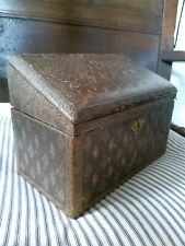 A Fantastic Tooled Leather 19th Century Letter Stationary Box
