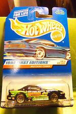 Hotwheels Hot Wheels Fast Racin Black Mustang Cobra Gold Lace Wheels 1998