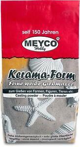 MEYCO Kerama Form Gießmasse - Feine Gießmasse weiß - hochwertiger Gips 1000g
