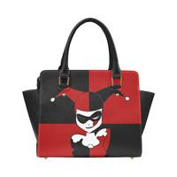 Harley Quinn Leather Women Purse Top Handle Tote Style Handbag