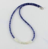 Iolith kette mit Opal,edelsteinkette,facettiert,Collier,Halskette,925Silber Blau