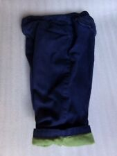Boys Janie and Jack LINED Warm Fall Winter Navy Blue Pants Size 12 to 18 Months