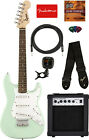 Fender Squier Mini Strat Electric Guitar - Surf Green w/ Amplifier for sale