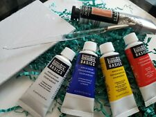 NEW - Liquitex Professional Acrylique Acrylic paint board and brush (5 paints+)