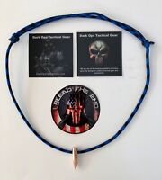 Paracord .30 Cal Sniper HOG TOOTH ...Necklace ...+ 1 Decal   ...Blue/Black