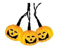 "Halloween LED-Partylichterkette ""Pumpkin"", 8tlg."