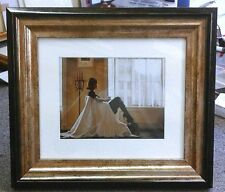 In Thoughts Of You by Jack Vettriano Chunky Deluxe Framed Art Print Romantic