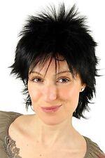 Perruque noir coquines Style des Années 80 années léger Nuque longue NDW 25 cm