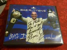 Bas Rutten Autograph on Big Dvds of Combat MMA Power Training Conditioning Nice