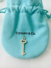 tiffany co.18K rose gold mini vintage diamond key with rose gold chain 16inches