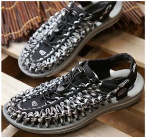 Keen Uneek Flat Black/Gray Sport Sandal Men's Sizes 7-14/NEW!!!