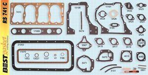Plymouth 170 196 Flat 4 Cyl 1929-32 Full Engine Gasket Set COPPER Head+Manifold