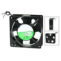 120x120x38mm 5 Blades Metal Frame Axial Flow Cooling Fan AC 220/240V 0.12A DTK