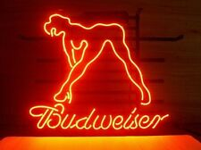 "New Budweiser Bud Light Sexy Lady Girl Neon Sign 17""x14"""