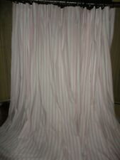 POTTERY BARN KIDS PINK STRIPE (PAIR) PINCH PLEATED WINDOW PANELS 50 X 84
