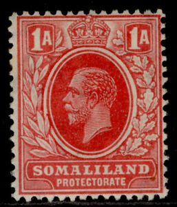 SOMALILAND PROTECTORATE GV SG74, 1a carmine-red, M MINT.