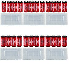 24x Surefire CR123A Lithium Batteries 3v EXP. 09/2027 *MADE IN USA* + 6 Case