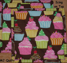 "Handmade-Quilted-Insulated-Hot Pads ""Icing on Top"" Set of 2 (8"")-USA Made by MJ"