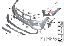 BMW X6 F16 Vorne Stoßstange Links Einsatz Rand 51117319799 7319799 2016 Neu