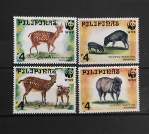 PHILLIPINES # 2476-2479.  WORLD WILDLIFE FUND.  WILD ANIMALS. MINT NEVR HINGED.