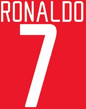 Manchester United Ronaldo Nameset Shirt Soccer Number Letter Heat Football 02 H