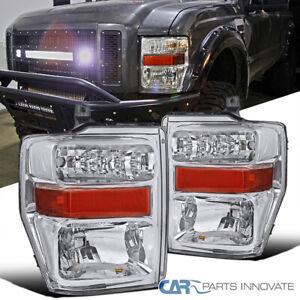 08-10 Ford F250 F350 F450 Pickup Clear Headlights Head Lights Lamps Left+Right