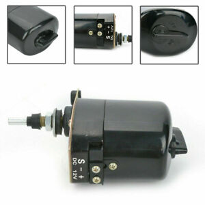 Universal Windshield Wiper Motor 12V Black for Willys Jeep Tractor 01287358 RS