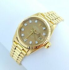 Rolex Datejust Damenuhr 18kt Gold 750er 6917 Box Papiere