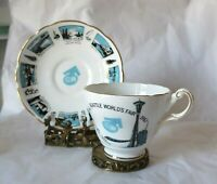 Vintage Seattle World's Fair 1962 Space Needle Tea Cup & Saucer MCM England Made