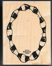 OVAL CURVY FRAME Picture Center Whipper Snapper Designs A048 Large Rubber Stamp