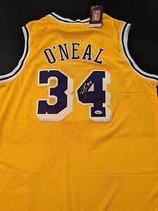 Shaquille O'Neal Los Angeles Lakers Autographed Signed Jersey COA