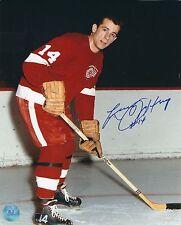 Autographed LARRY JEFFREY Detroit Red Wings 8x10 photo - COA