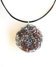 Men's Silver Twist Orgonite® Pendant-EMF Buster!