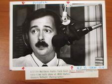 Vintage Glossy Press Photo Jerry Russell WRSO Malboro Radio Talk Show Host