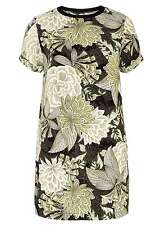 BNWT Dorothy Perkins Tall Etchy Floral Tunic In New Khaki - UK 10 (R185)