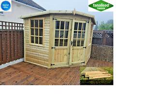 9x9 corner summer house shed summerhouse shiplap 16mm CHECK POSTCODES BELOW