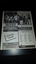 Huey Lewis & The News Spandau Ballet Rare Original Promo Poster Ad Framed!