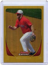 """2011 BOWMAN CHROME #166 KEVIN YOUKILIS """"GOLD REFRACTOR"""" #30/50 - BOSTON RED SOX"""