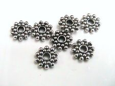 25 x 8mm Tibetan Silver Daisy Spacer Beads Bead Craft Findings F186