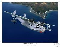 PBM Mariner  Flying Boat WWII Aviation Art Print