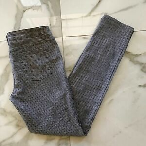Prana 'Kara Moonrock' Gray & Lavender Print Organic Cotton Skinny Jeans 12/31