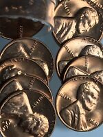 1968 D Lincoln Memorial Penny Cent Penny Red Gem BU Roll Uncirculated