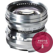 Voigtlander 50mm f/1.5 Nokton M-mount Film Rangefinder Lens Silver NEW USA