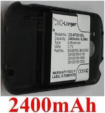 Black Case + Battery 2400mAh type BG58100 For T-Mobile myTouch 0.1oz Slide