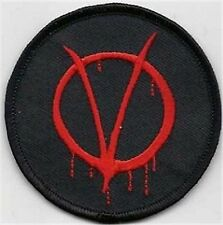 V (For Vendetta) Anarchy Funny RED Motorcycle Biker MC Club Vest PATCH PAT-3613