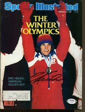 Eric Heiden Signed 1980 Sports Illustrated 2/25 Autographed Olympics PSA/DNA
