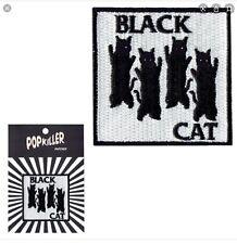 Popkiller Four Black Cat Iron On Patch