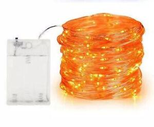 Halloween 100 Battery Operated LED Party Lights Led String Lights Orange Etc
