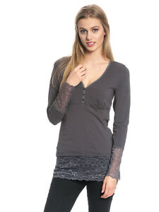 Vive Maria - Romantic Basicshirt iron gray - sofort lieferbar -